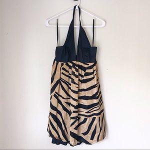 Arden B Burnout Zebra Dress